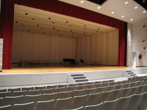 Inside the Metamora Township High School auditorium