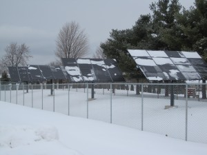 Solar panels at Metamora Township High School